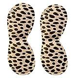 4 Pair Heel Cushions Padded Heel Grips Care Heel Snugs Heel Liners Leopard(C)