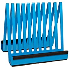 "Bel-Art Scienceware 135950000, 7-3/4"" Length x 6-1/4"" Width x 7-1/8"" Height, Epoxy-Coated Steel Electrophoresis Gel Plate Drying Rack, with Plastic Supports to Cushion Plates"