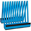 """Bel-Art Scienceware 135950000, 7-3/4"""" Length x 6-1/4"""" Width x 7-1/8"""" Height, Epoxy-Coated Steel Electrophoresis Gel Plate Drying Rack, with Plastic Supports to Cushion Plates"""