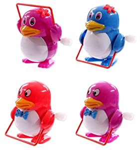 Mechanical colored penguin playing skipping rope (Sold individually)