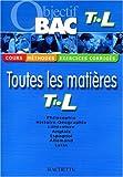 echange, troc Jean-Rémy Cuenot, Jean Duma, Uta Gauthier, Brigitte Lallement, Collectif - Objectif Bac Terminale L
