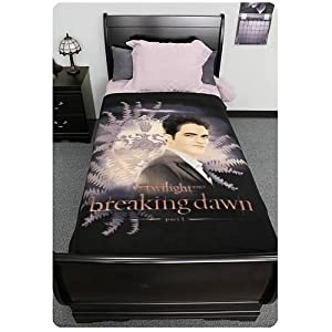 Twilight Breaking Dawn Blanket - Edward with Crest and Ferns