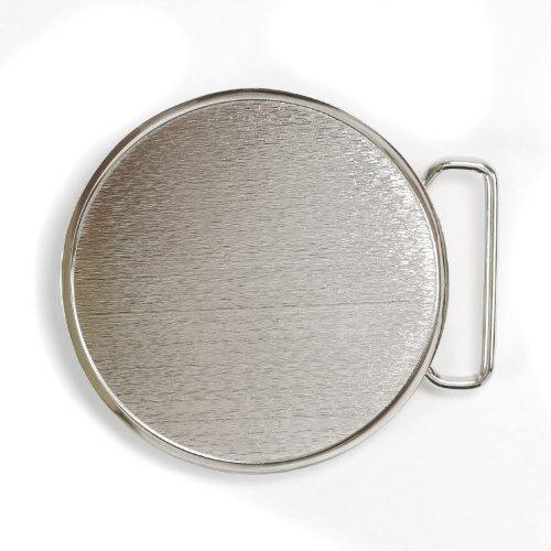 Landisun Handmade Diy Blank Bright White Round Belt Buckle