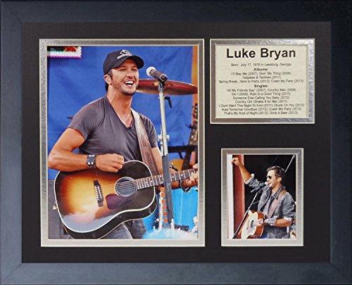 Legends Never Die Luke Bryan Framed Photo Collage, 11 By 14-Inch front-25125