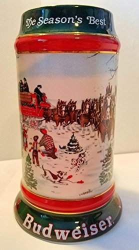 budweiser-holiday-steins-collectable-holiday-stein-series-1991