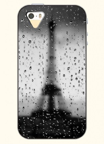 Oofit Phone Case Design With Raindrop And Eiffel Tower For Apple Iphone 4 4S 4G
