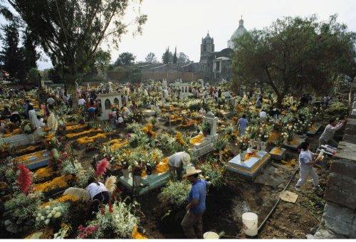 Mexicans Celebrating El Dia De Los Muertos The Day Of The Dead 56 X 42 Poster
