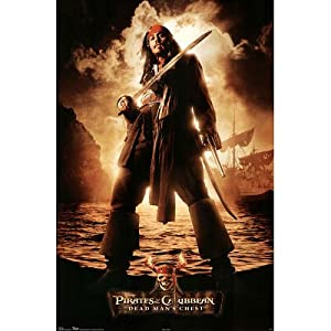 (22x34) Pirates of the Caribbean: Dead Man's Chest Movie Johnny Depp Poster Print