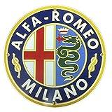 Alfa Romeo Milano Porcelain Sign