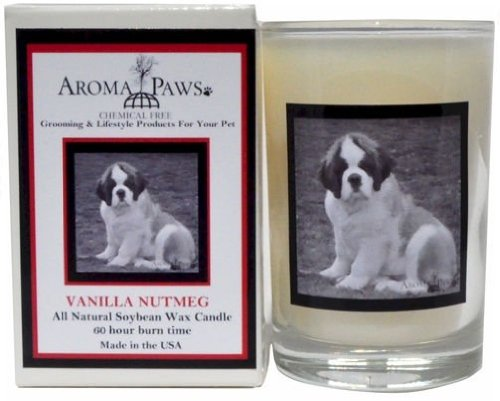 Aroma Paws 348 Breed Candle 5 Oz. Glass-Gift Box - Saint Bernard