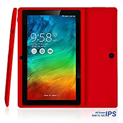 NPOLE Tablet 16G 1G IPS 7 Inch Android Quad Core CPU Dual Camera HD Video 3D Game Supported N718 Red