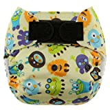 Blueberry One Size Deluxe Hook and Loop Pocket Diapers, Monsters