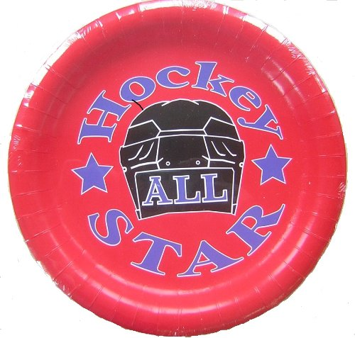 Hockey All Star Paper Plates-pkg of 8