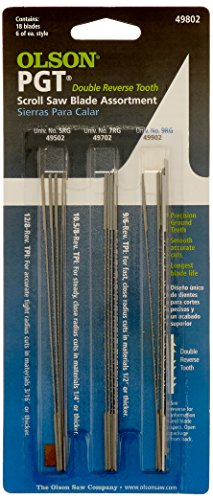 Olson Saw PG49802 Precision Ground Scroll Saw Blade (Dewalt Scroll Saw Blades compare prices)