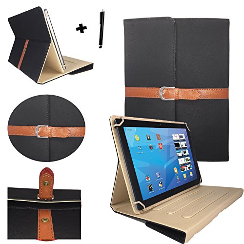 Elegante Tablet Pc Tasche für Huawei MediaPad FHD / 10.1 / 25,4 cm mit Standfunktion - 10 Zoll Schwarz Stylish