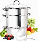 Cook N Home 9-1/2-Quart Stainless-Steel Juicer Steamer