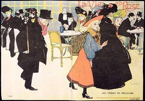 """Reproduction / Poster: Francisco Xavier Gose """"Cover illustration for 'La Vie en Rose', 1903"""" - Affiche, Reproduction artistique de haute qualité, 45x30 cm"""