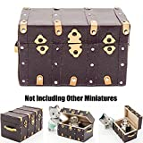 Treasure Chest Vintage Leather Case Box Miniature Dollhouse For Re-ment Top Toy