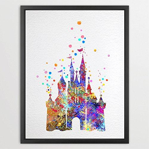 dignovel-studios-a4-cinderella-disney-princess-castle-watercolour-illustration-art-print-wall-art-po