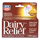 Rite Aid Dairy Aid, Original Strength, Caplets, 120 ct