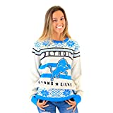 NFL Detroit Lions Logo Adult Football Ugly Christmas Sweater (Adult X-Large)