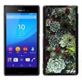 Rubber Case Hard Shell Cover Protective Accessory BY RAYDREAMMM - Sony Xperia M4 Aqua - Cone Tree Nature Green Forest