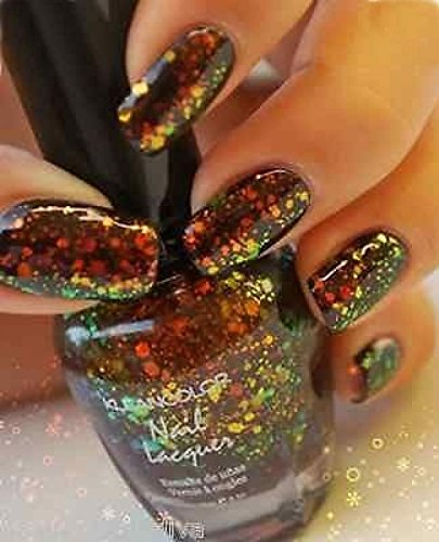 3D-Popular-Nail-Polish-Lacquer-Chunky-Holo-Black-Effect-Red-Holographic-Glitter