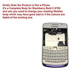 Replacement Brand New Blackberry Bold 2 9700 Full Body Housing Panel Faceplate White