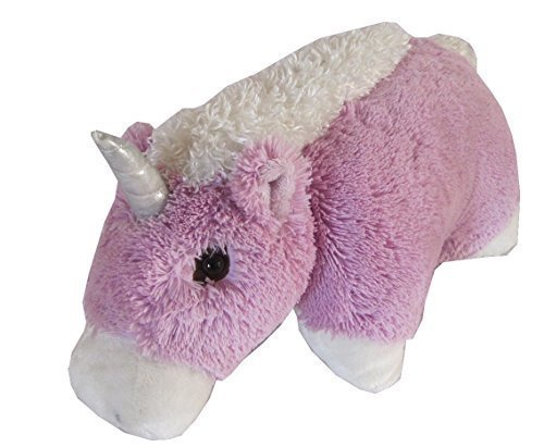 "Unicorn Zoopurr Pets 2-in-1 Stuffed Animal and Pillow Large 19"" - 1"