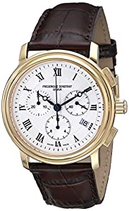 Frederique Constant Men's FC292MC4P5 Persuasion Brown Strap Chronograph Watch