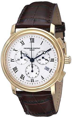 Frederique Constant FC292MC4P5 - Reloj de pulsera hombre, piel, color marrón