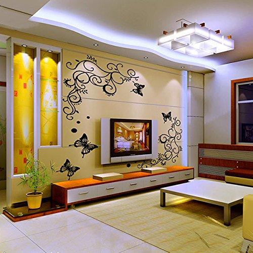 Casanet Adesivi Murales 4 Farfalla 2 Viti Fiori Fioriture