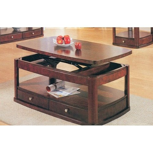 Pie Coffee Table In Cherry Finish
