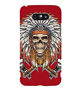 Printvisa Premium Back Cover Skull With Egyptian Head Gear Design For LG G5::LG G5 Dual H860N with dual-SIM card slots