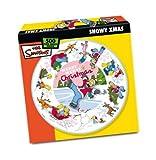 Simpsons Snowy Christmas 500 Piece Circular Jigsaw