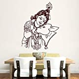 Hoopoe Decor Bal Krishna With Cow Wall Stickers And Decals