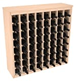 64 Bottle Deluxe Wine Rack in Pine