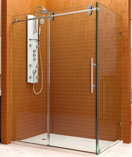 Dreamline Shen-60366012-07 Enigma 36 By 60 By 79 Frameless Sliding Shower Enclosure