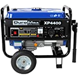 DuroMax XP4400 4,400 Watt 6.5 HP OHV 4-Cycle Gas Powered Portable Generator With Wheel Kit