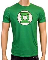 Coole-Fun-T-Shirts T-Shirt Grüne Laterne - Green Lantern - Big Bang Theory - Logo - T-shirt - Mixte