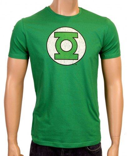Coole-Fun-T-Shirts - T-Shirt Grüne Laterne - Green Lantern - Big Bang Theory - Logo, T-shirt unisex, green logo, Small