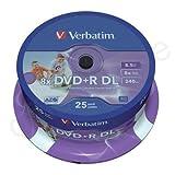 Verbatim 43667 - DVD+R 8x D/L Printable 25pk