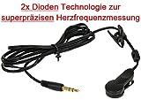 OHRCLIP mit 2x Dioden Technologie zur superpräzisen Herzfrequenzmessung für DAUM , Cardio Puls Ohrclip für Pulsmessung an DAUM Geräten / Herzfrequenzmessung Cardio ear clip Puls / Pulsmesser
