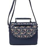 Borsavela Women's Sling Bag (Dark Blue)