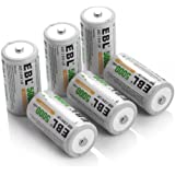 EBL® 5000mAh Ni-MH Rechargeable C Batteries, 6 Pack
