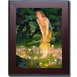 Midsummer Eve by Edward Hughes Premium Mahogany Framed Canvas (Ready-to-Hang)