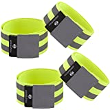 Ambidextrous Reflective Running Ankle Bands Armbands Wristbands For Women And Men | High Visibility Reflector...