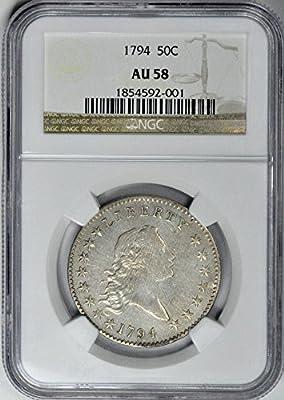 1794 Flowing Hair Half Dollar AU58 NGC