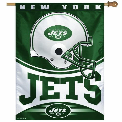 NFL New York Jets 27-by-37 Inch Vertical Flag at Amazon.com