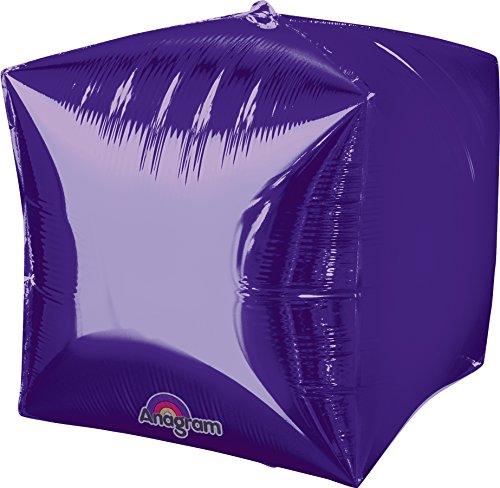 "Anagram International Cubez Purple Flat Balloon, 15"", Multicolor"
